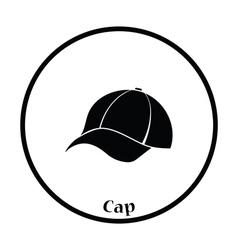 Baseball cap icon vector