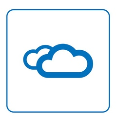 Clouds icon cartoon vector image vector image