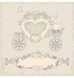 Coach Template Wedding Invitation vector image vector image