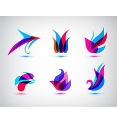 Collection Set Of Abstract Symbols Isolated On vector image