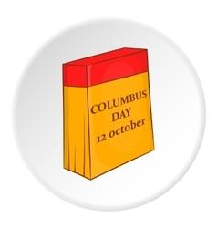 Columbus day calendar icon cartoon style vector image vector image