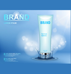 Cosmetic moisturizing brand product container vector