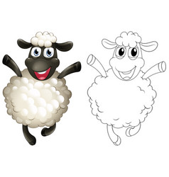 doodles drafting animal for sheep vector image vector image