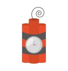 dynamite sticks mining tnt clock vector image