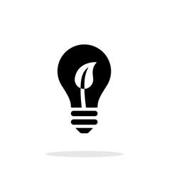 Eco light bulb icon on white background vector image