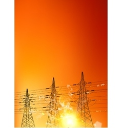Electrical pylons vector