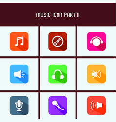 Flat design music icon part ii vector
