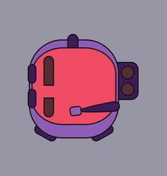 Flat icon design collection astronaut helmet vector