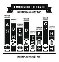 Human resources infographic concept simple style vector