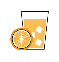 Lemon tropical fruit beverage vector