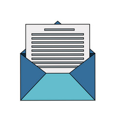 mail envelope icon image vector image vector image