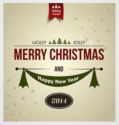 merry christmas card 2 vector image vector image