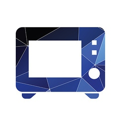 Microwave icon abstract triangle vector