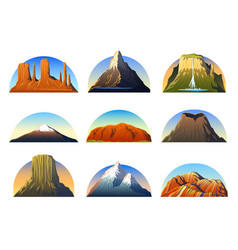 Mountains peaks landscape early in a daylight vector