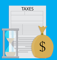 payment of tax vector image vector image