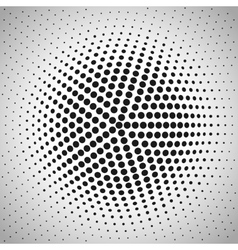 Radial halftone background vector