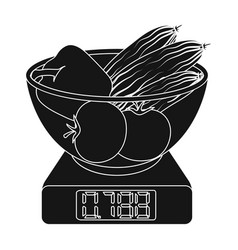 Scales single icon in blakck stylescales vector