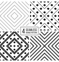 Set of geometric seamless pattern diagonal lines vector image vector image