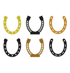 Set of horseshoe vector image