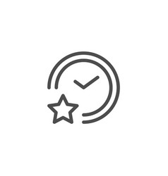 Sleeping time line icon vector