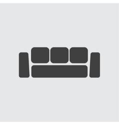 Sofa icon vector image vector image