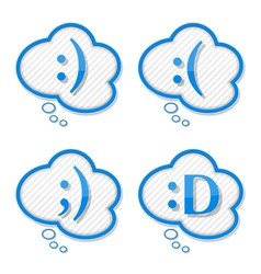 Speech Bubbles with Smiles vector image vector image