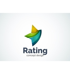 Star logo template rating or best choice concept vector image