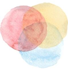 Watercolor circle Watercolor hand painted circle vector image