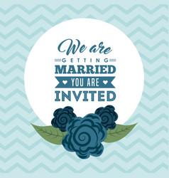 wedding invitation icon desig vector image