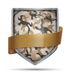 Shield with flag camouflage vector