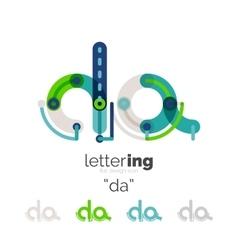 Letter logo line concept vector