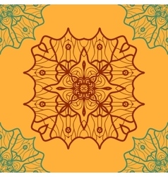 Yoga ornament kaleidoscopic seamless indian art vector