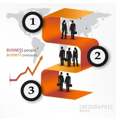 Modern design banners with business people vector