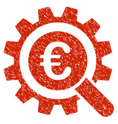 Euro search options icon grunge watermark vector