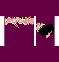 Set of two templates for weddingbirthday vector