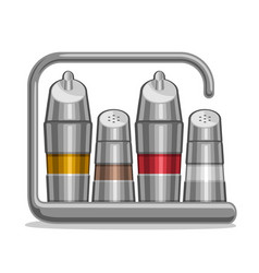 metal shakers for salt and pepper vector image