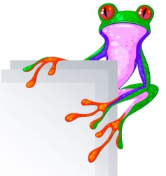 bright frog vector image