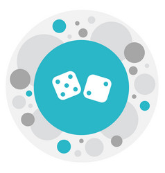 of gambling symbol on dice vector image