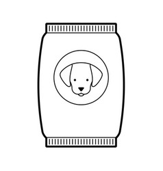 Mascot food bag icon vector