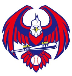 eagle baseball mascot vector image