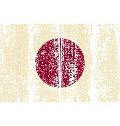 Japanese grunge flag vector
