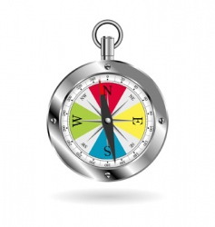 Compass over white vector