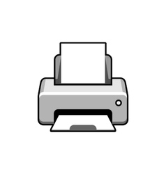 Realistic printer icon vector