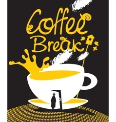 Art coffee break vector
