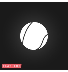 Tennis ball flat icon vector