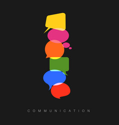 abstract communication concept vector image vector image