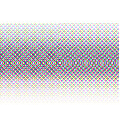 Abstract halftone glitched background vector