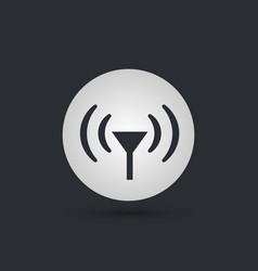 antenna circle icon vector image