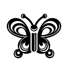 Butterfly wing patterns icon simple style vector