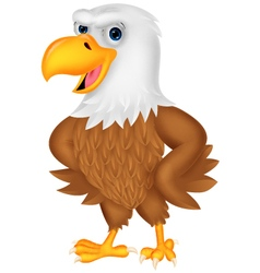Cartoon eagle posing vector image vector image